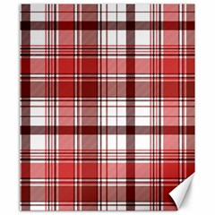 Red Abstract Check Textile Seamless Pattern Canvas 20  X 24