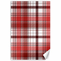 Red Abstract Check Textile Seamless Pattern Canvas 24  X 36
