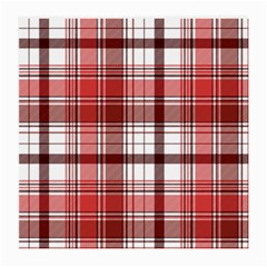 Red Abstract Check Textile Seamless Pattern Medium Glasses Cloth