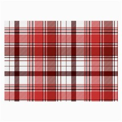 Red Abstract Check Textile Seamless Pattern Large Glasses Cloth (2 Sides)