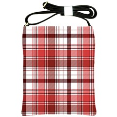 Red Abstract Check Textile Seamless Pattern Shoulder Sling Bag