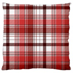 Red Abstract Check Textile Seamless Pattern Large Cushion Case (two Sides)