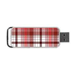 Red Abstract Check Textile Seamless Pattern Portable Usb Flash (one Side)