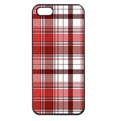 Red Abstract Check Textile Seamless Pattern Iphone 5 Seamless Case (black)