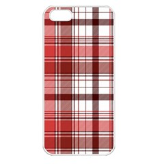 Red Abstract Check Textile Seamless Pattern Iphone 5 Seamless Case (white)