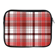 Red Abstract Check Textile Seamless Pattern Apple Ipad 2/3/4 Zipper Cases