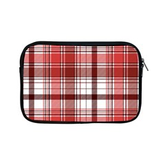 Red Abstract Check Textile Seamless Pattern Apple Ipad Mini Zipper Cases