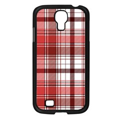 Red Abstract Check Textile Seamless Pattern Samsung Galaxy S4 I9500/ I9505 Case (black)