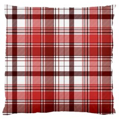 Red Abstract Check Textile Seamless Pattern Standard Flano Cushion Case (one Side)