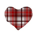 Red Abstract Check Textile Seamless Pattern Standard 16  Premium Flano Heart Shape Cushions Back