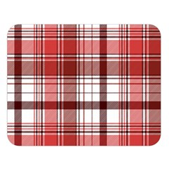 Red Abstract Check Textile Seamless Pattern Double Sided Flano Blanket (large)