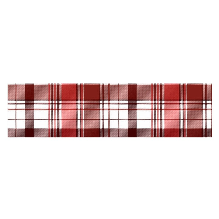 Red Abstract Check Textile Seamless Pattern Satin Scarf (Oblong)