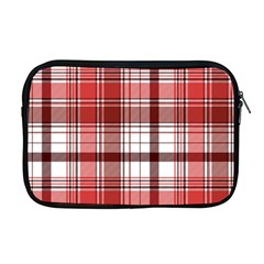 Red Abstract Check Textile Seamless Pattern Apple Macbook Pro 17  Zipper Case