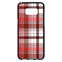 Red Abstract Check Textile Seamless Pattern Samsung Galaxy S8 Plus Black Seamless Case