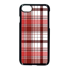 Red Abstract Check Textile Seamless Pattern Iphone 8 Seamless Case (black)