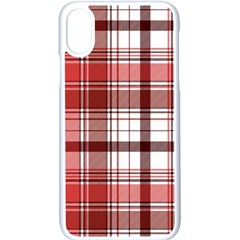Red Abstract Check Textile Seamless Pattern Iphone X Seamless Case (white)