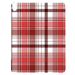 Red Abstract Check Textile Seamless Pattern Apple Ipad Pro 12 9   Black Uv Print Case