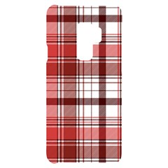 Red Abstract Check Textile Seamless Pattern Samsung S9 Plus Black Uv Print Case
