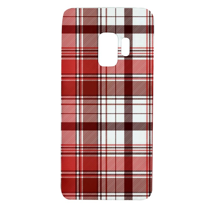 Red Abstract Check Textile Seamless Pattern Samsung Galaxy S9 TPU UV Case