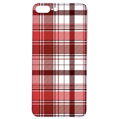 Red Abstract Check Textile Seamless Pattern Iphone 7/8 Plus Soft Bumper Uv Case