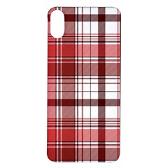 Red Abstract Check Textile Seamless Pattern Iphone X/xs Soft Bumper Uv Case