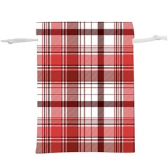 Red Abstract Check Textile Seamless Pattern  Lightweight Drawstring Pouch (xl)