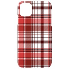 Red Abstract Check Textile Seamless Pattern Iphone 11 Black Uv Print Case