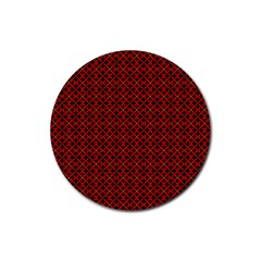 Df Pointsettia Rubber Round Coaster (4 Pack)  by deformigo