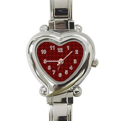 Df Pointsettia Heart Italian Charm Watch by deformigo