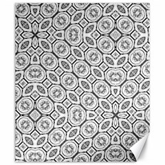 Black And White Baroque Ornate Print Pattern Canvas 20  X 24  by dflcprintsclothing