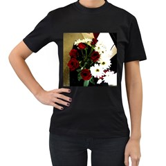 Roses 1 2 Women s T-shirt (black) (two Sided) by bestdesignintheworld