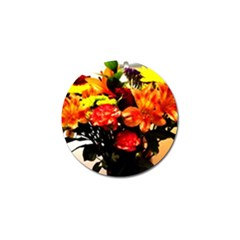 Flowers In A Vase 1 2 Golf Ball Marker (10 Pack) by bestdesignintheworld