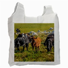 Cows At Countryside, Maldonado Department, Uruguay Recycle Bag (two Side) by dflcprints