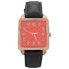 Saliceto Rose Gold Leather Watch  by deformigo