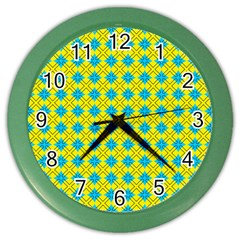 Taroa Color Wall Clock by deformigo