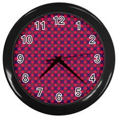 Flowerick Wall Clock (black) by deformigo