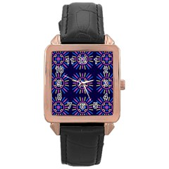 Papiamento Rose Gold Leather Watch