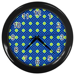 Noreia Wall Clock (black) by deformigo
