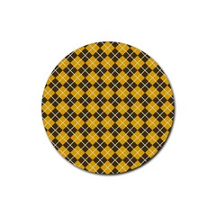 Tomis Rubber Round Coaster (4 Pack)  by deformigo