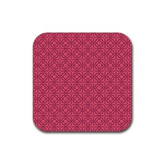 Lantana Rubber Square Coaster (4 Pack)  by deformigo