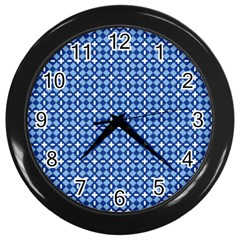 Lagoonis Wall Clock (black) by deformigo