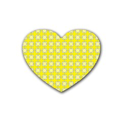 Goldenrod Heart Coaster (4 Pack)  by deformigo