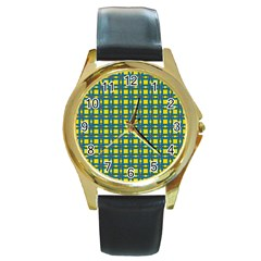 Wannaska Round Gold Metal Watch