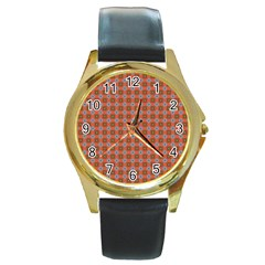 Persia Round Gold Metal Watch