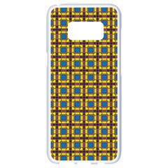 Montezuma Samsung Galaxy S8 White Seamless Case by deformigo