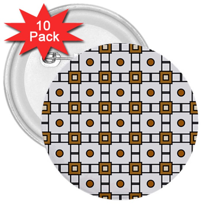 Peola 3  Buttons (10 pack)