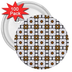 Peola 3  Buttons (100 pack)