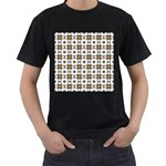 Peola Men s T-Shirt (Black) (Two Sided) Front
