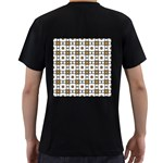 Peola Men s T-Shirt (Black) (Two Sided) Back