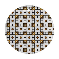 Peola Round Ornament (Two Sides)